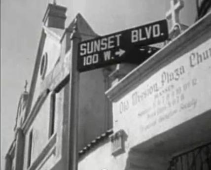 Screen shot of 100 W Sunset Blvd from Dragnet (1953)