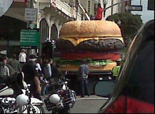 burger attack on main